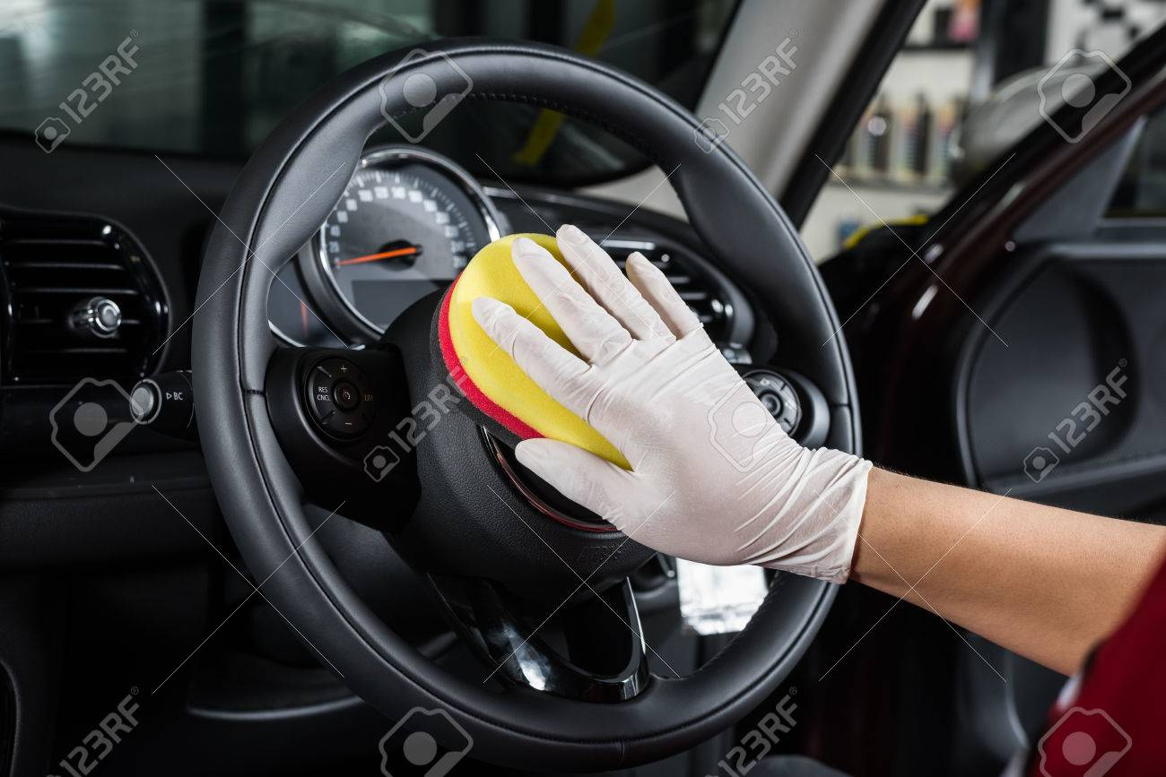 Car Detailing Series : Cleaning Car Interior Stock Photo   56485580