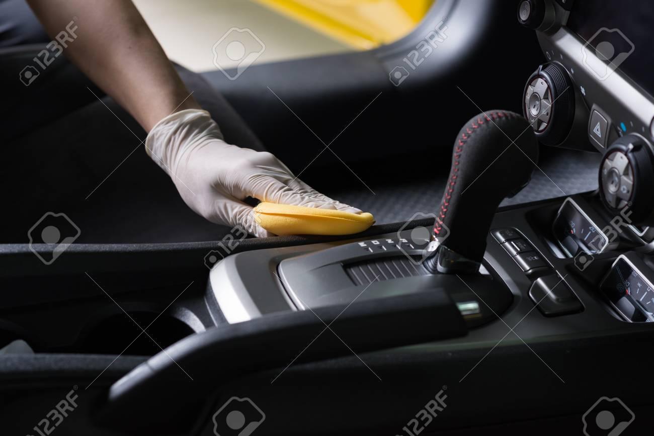 Car detailing series : Cleaning car interior - 65230664