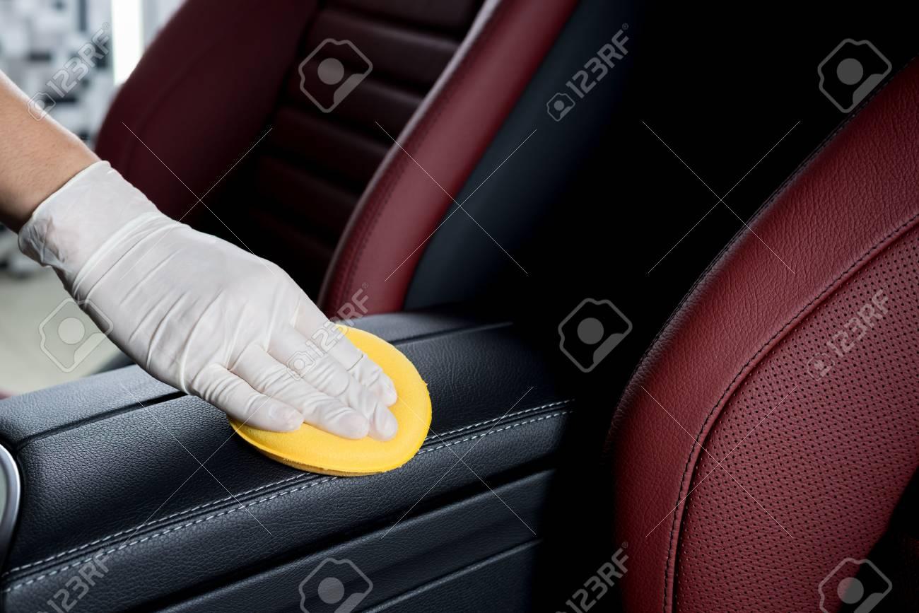 Car detailing series : Cleaning car interior - 66088383