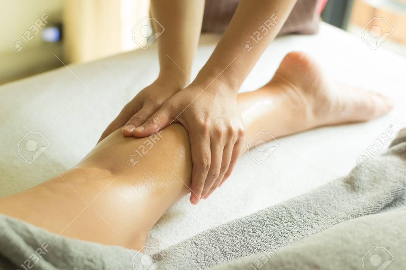 Aromatherapy Massage Leg Massage Stock Photo Picture And Royalty Free Image Image 94856650