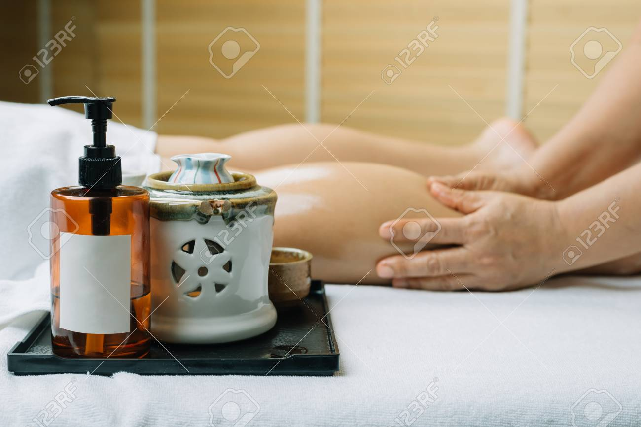 Aromatherapy Massage Leg Massage Stock Photo Picture And Royalty Free Image Image 96632118