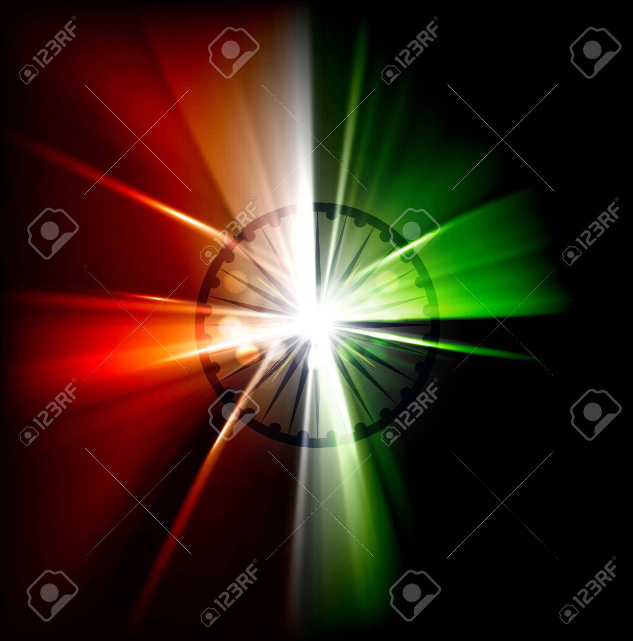 beautiful bright tricolor stylish indian flag wave vector illustration Stock Vector - 17473050