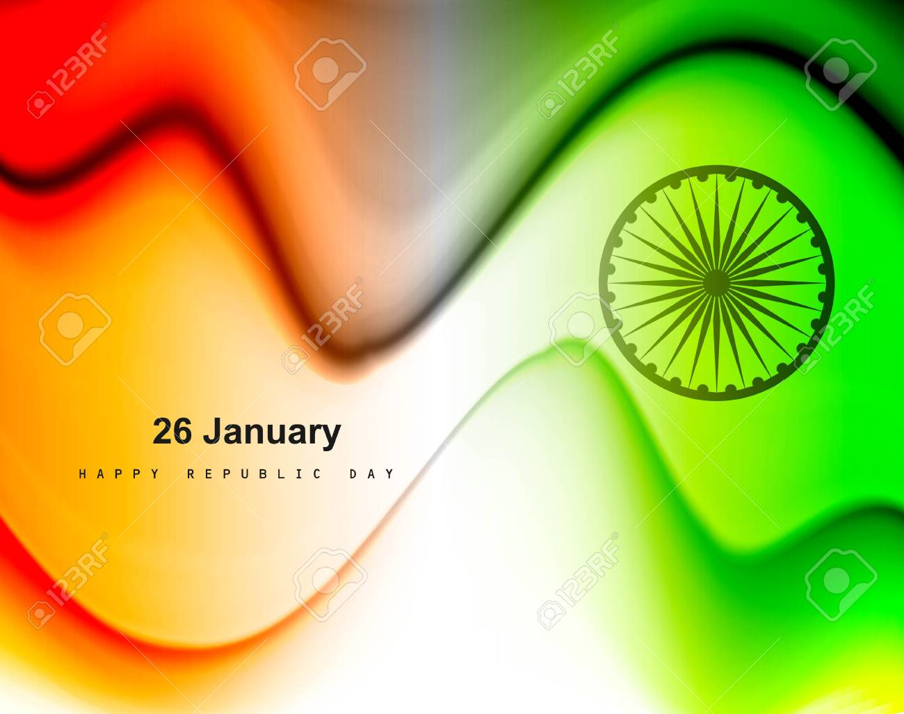 illustration of stylish wave in Indian flag tricolor Stock Vector - 17473071