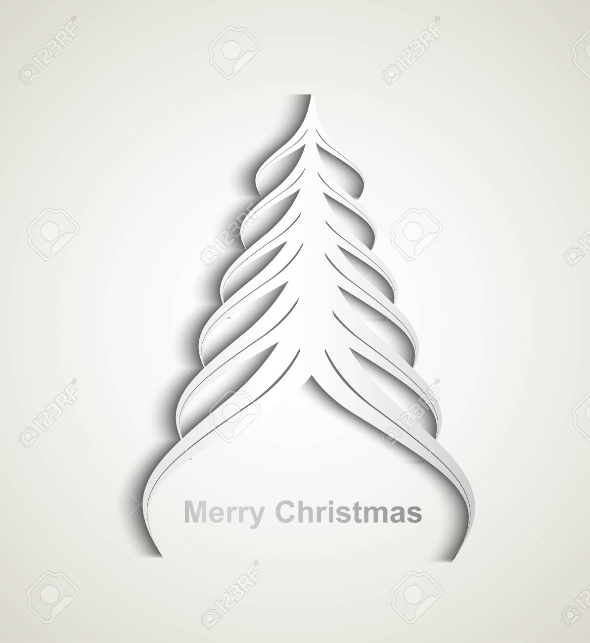 merry christmas stylish tree colorful whit background Stock Vector - 17789360