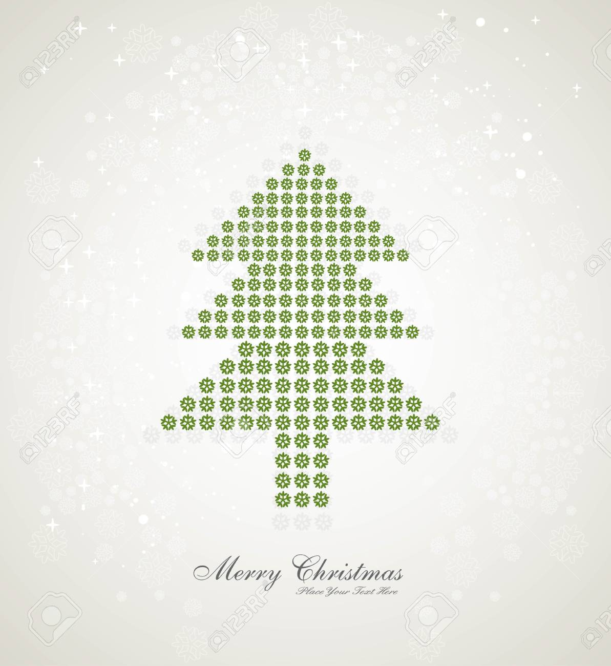 Merry christmas stylish tree colorful whit background Stock Vector - 17789772