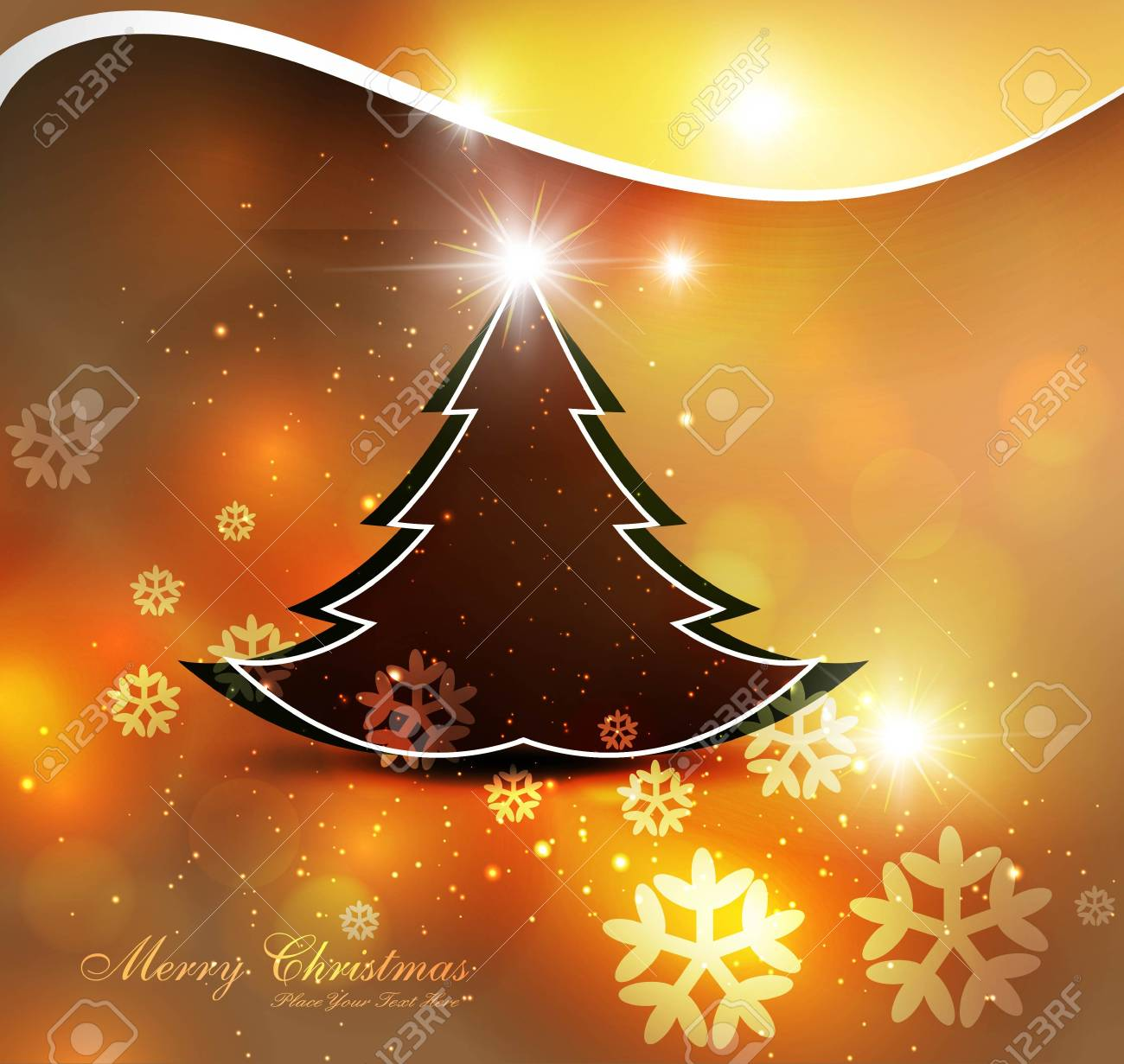 Merry Christmas bright colorful tree background card design Stock Vector - 17790343