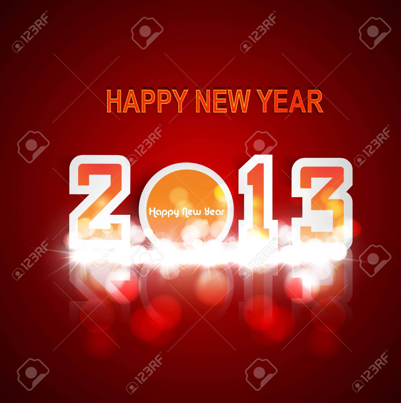 2013 new year circle celebration colorful design Stock Vector - 17790339