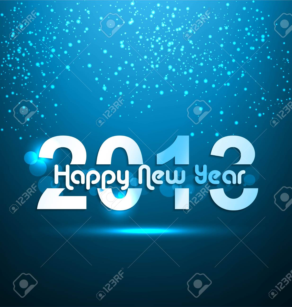 Happy new year shiny 2013 blue colorful background Stock Vector - 17790303