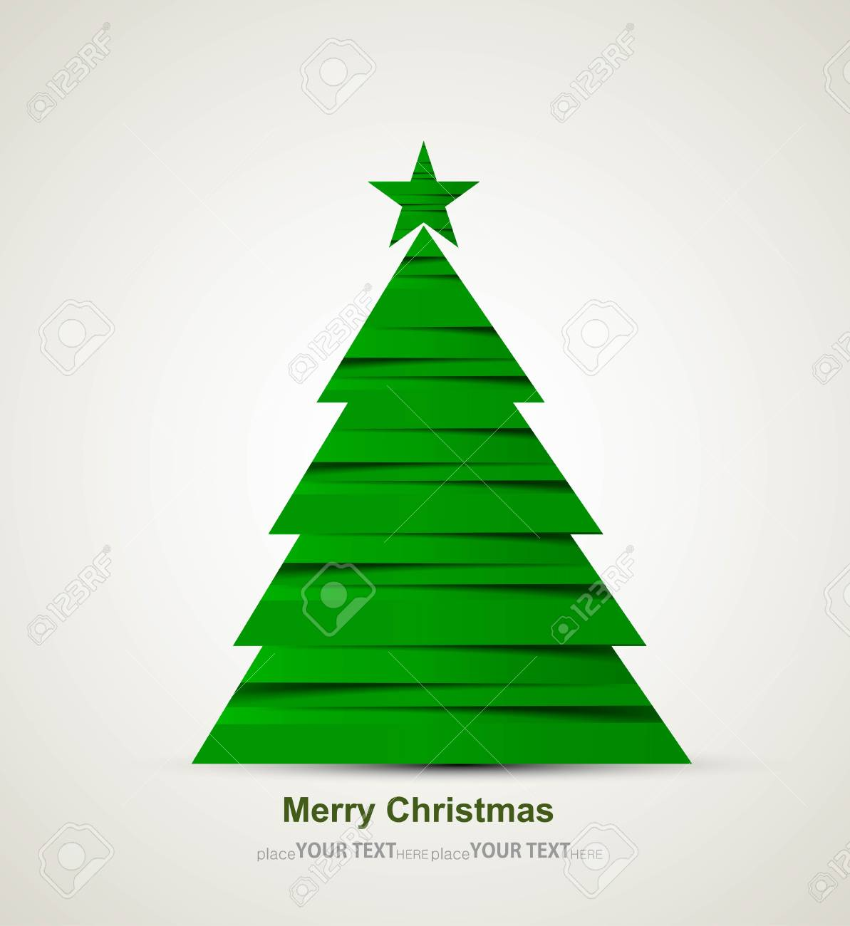 merry christmas stylish green tree colorful whit background Stock Vector - 17790333