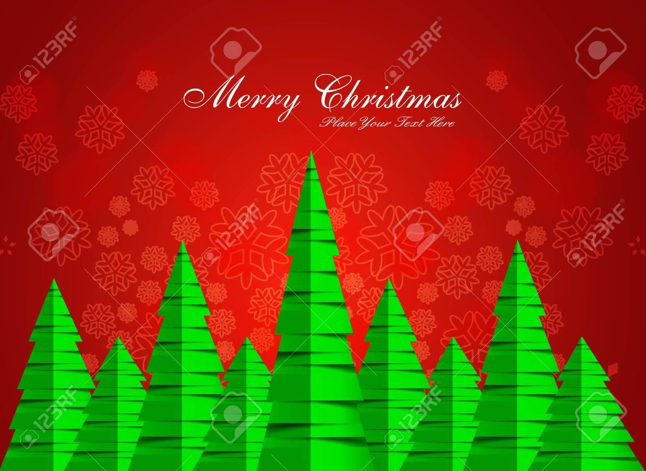 merry christmas stylish green tree background Stock Vector - 17790789