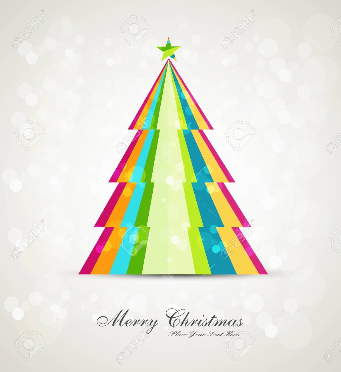 merry christmas stylish tree Stock Vector - 17790337