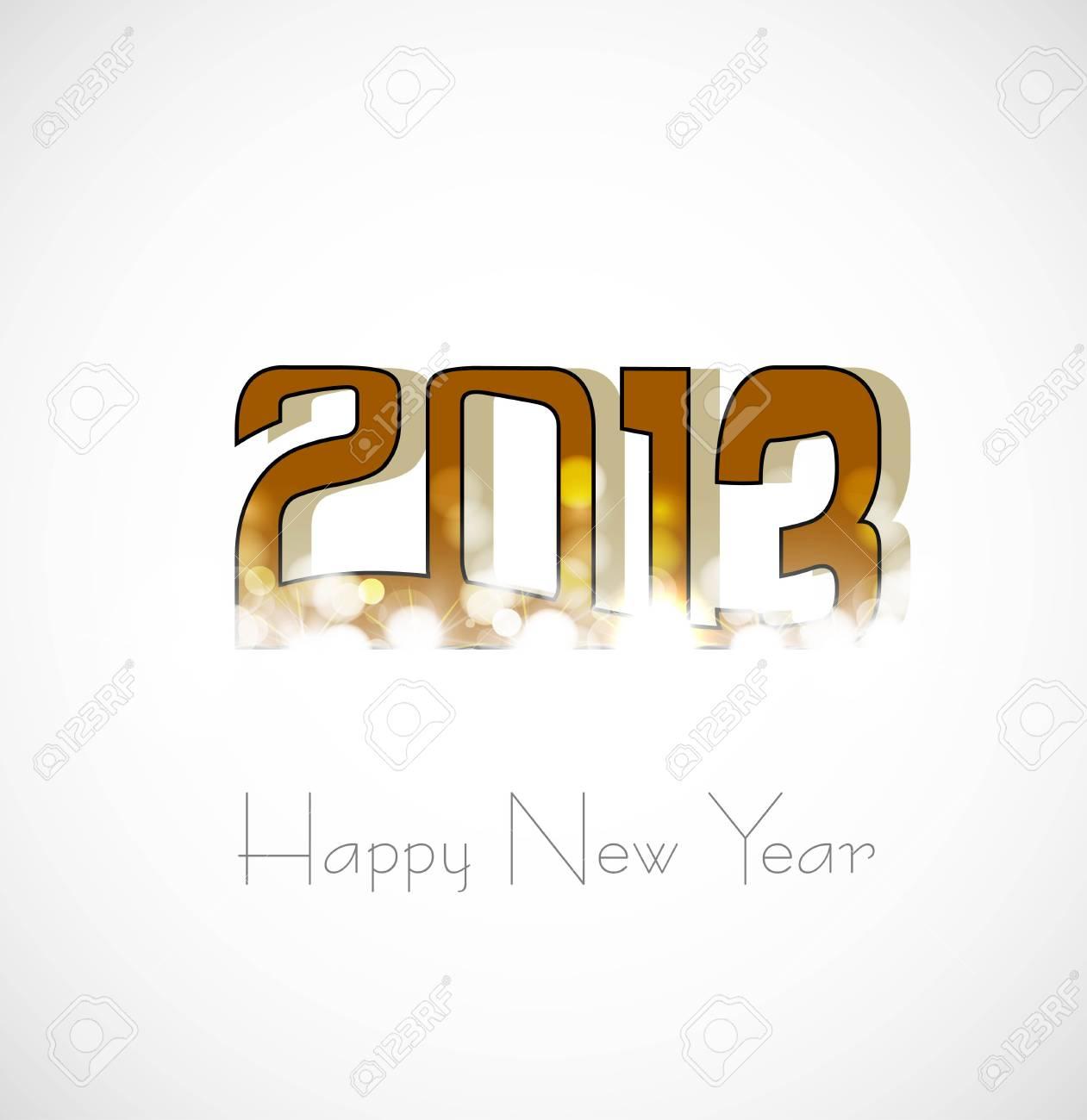 new year creative 2013 artistic design Stock Vector - 17945522