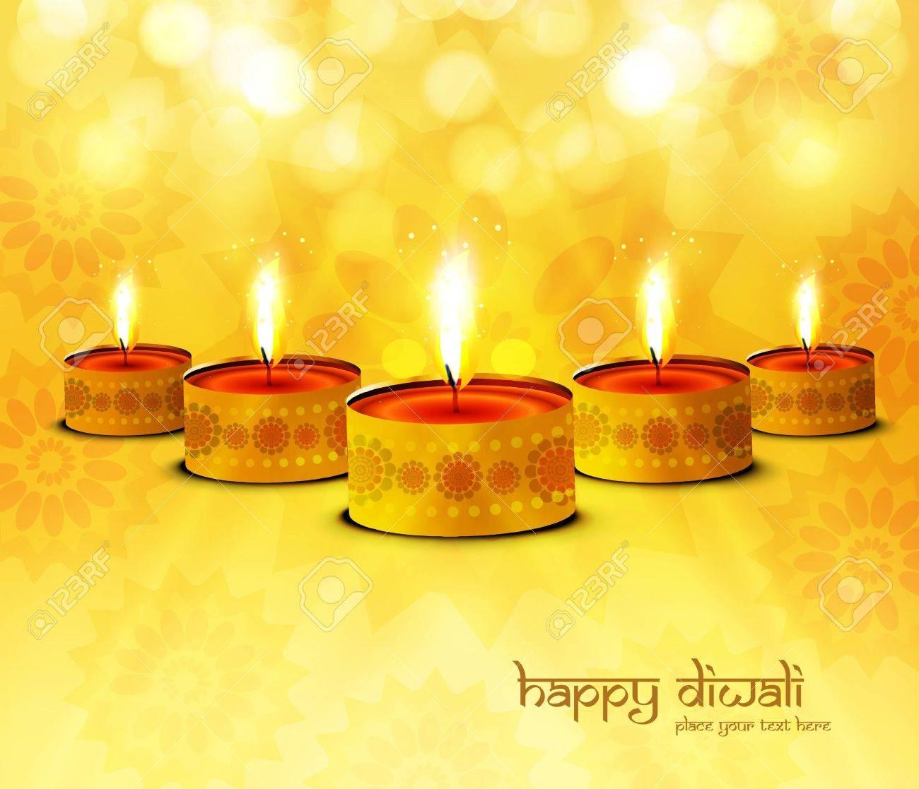 Happy diwali diya celebration bright colorful background Stock Vector - 17945966