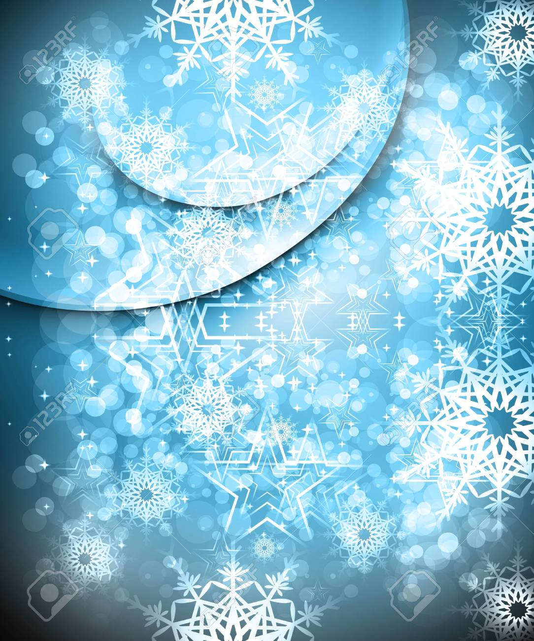 merry christmas celebration blue colorful card background vector Stock Vector - 17945959