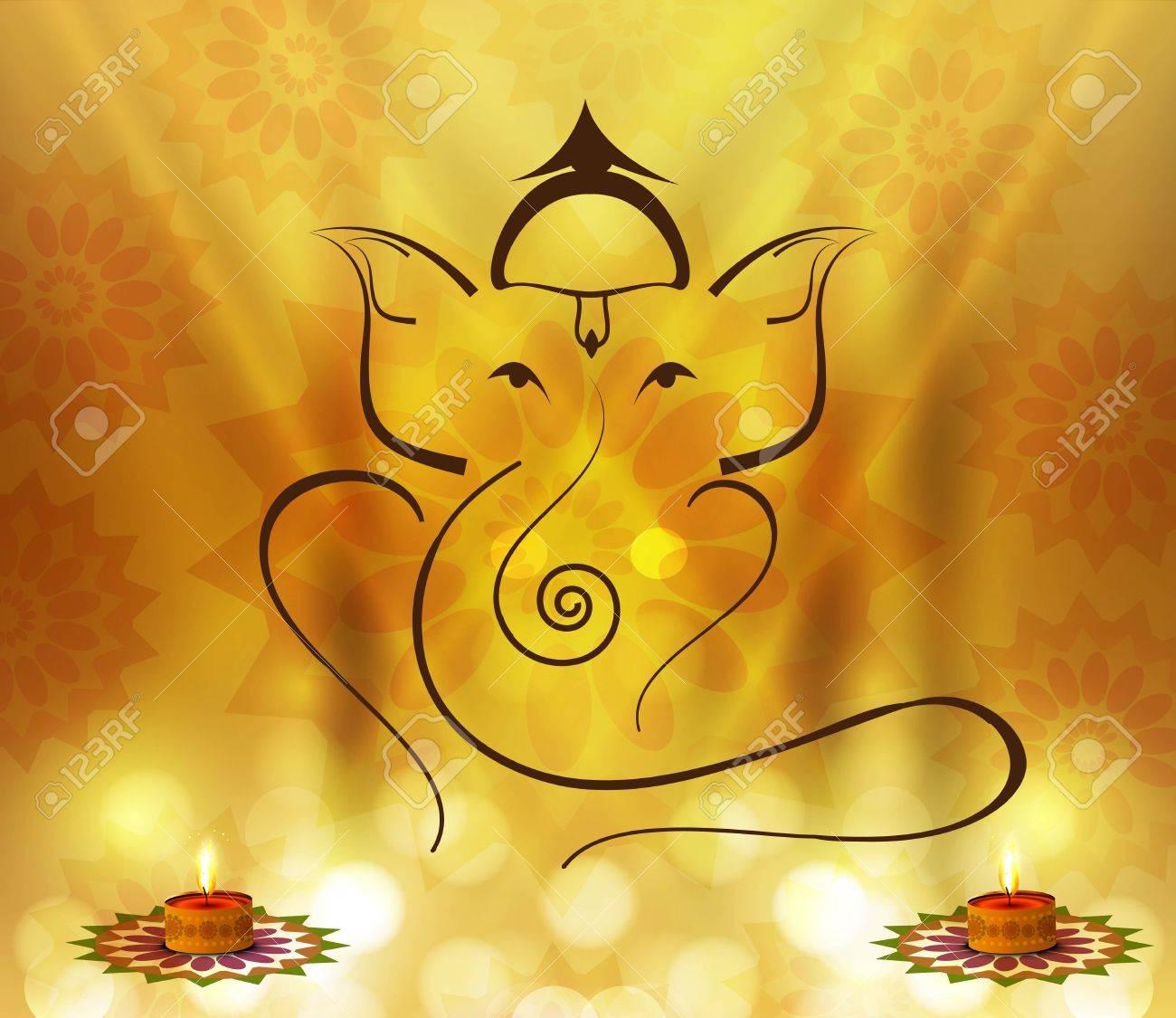 Beautiful Artistic colorful Hindu Lord Ganesha design Stock Vector - 17946044