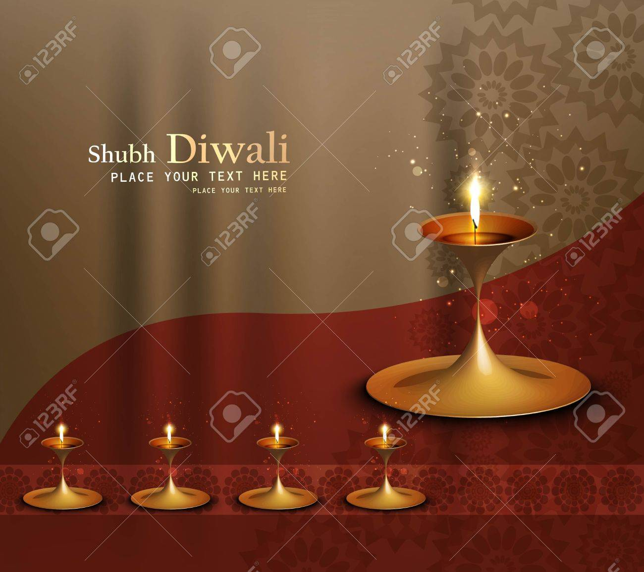 Beautiful happy diwali diya bright colorful background Stock Vector - 18000410