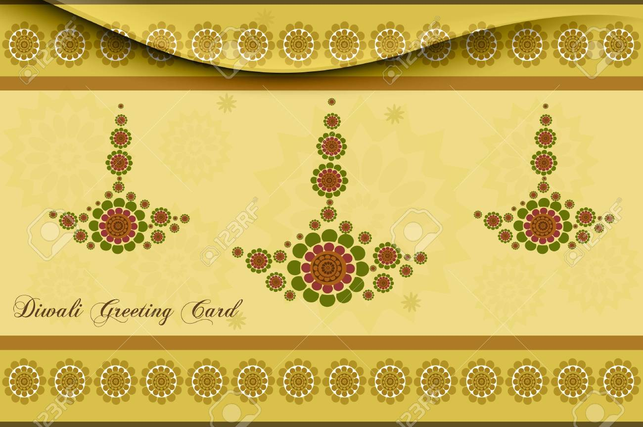 happy diwali card artistic diya colorful vector background Stock Vector - 18000422