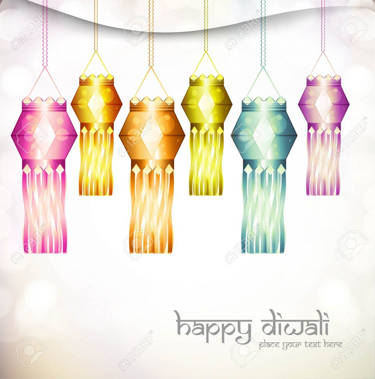 beautiful diwali hanging lamp festival shiny vector design Stock Vector - 18048875