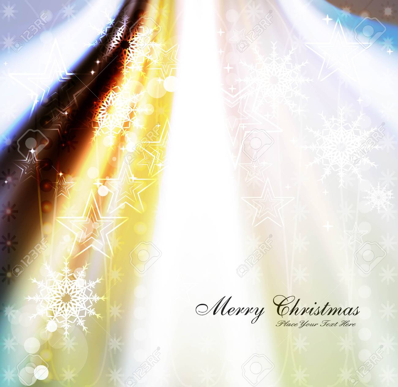 merry christmas celebration colorful wave card design vector Stock Vector - 18117196