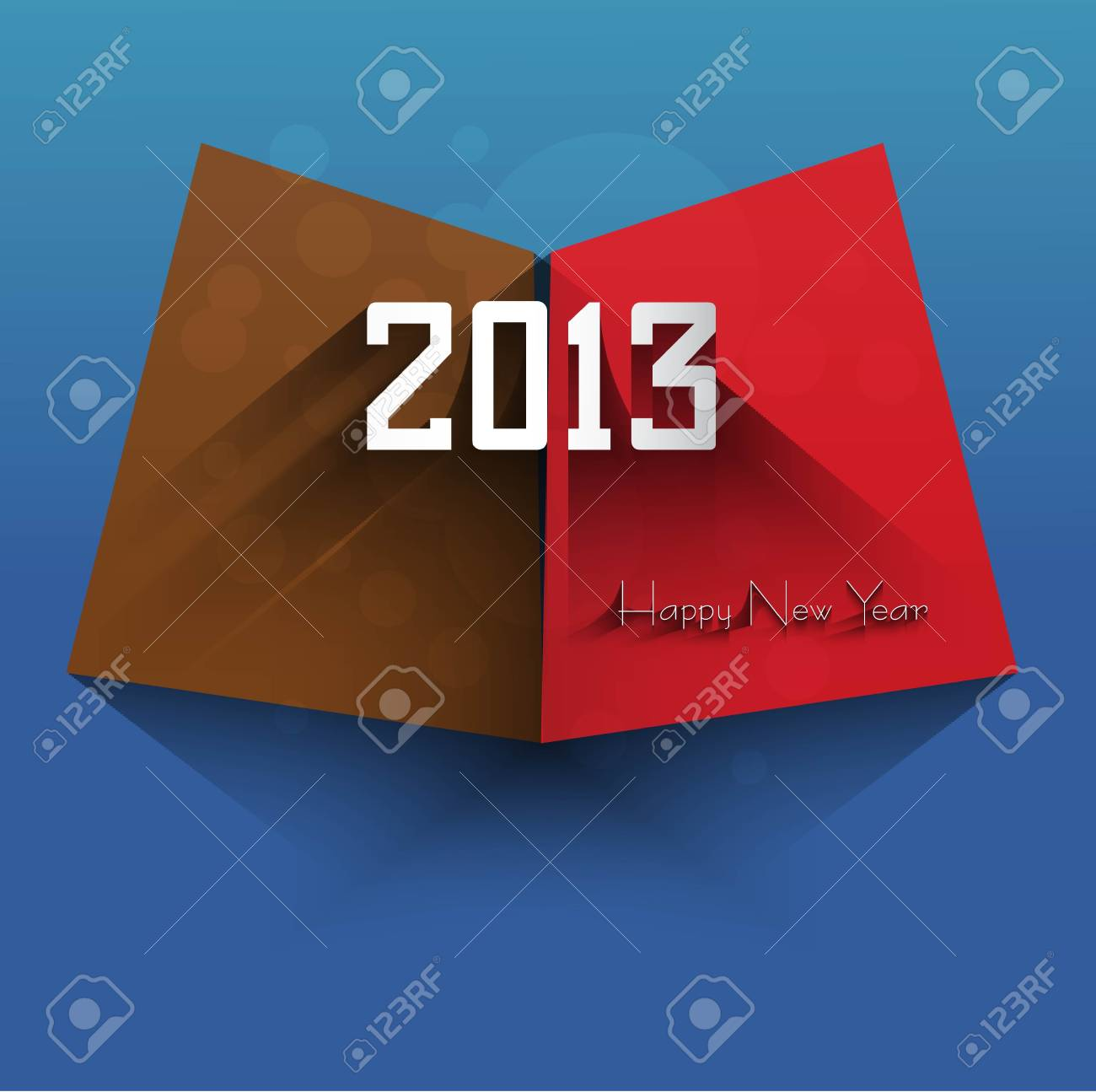 New year shiny stylish 2013 bright blue colorful vector design Stock Vector - 18172882
