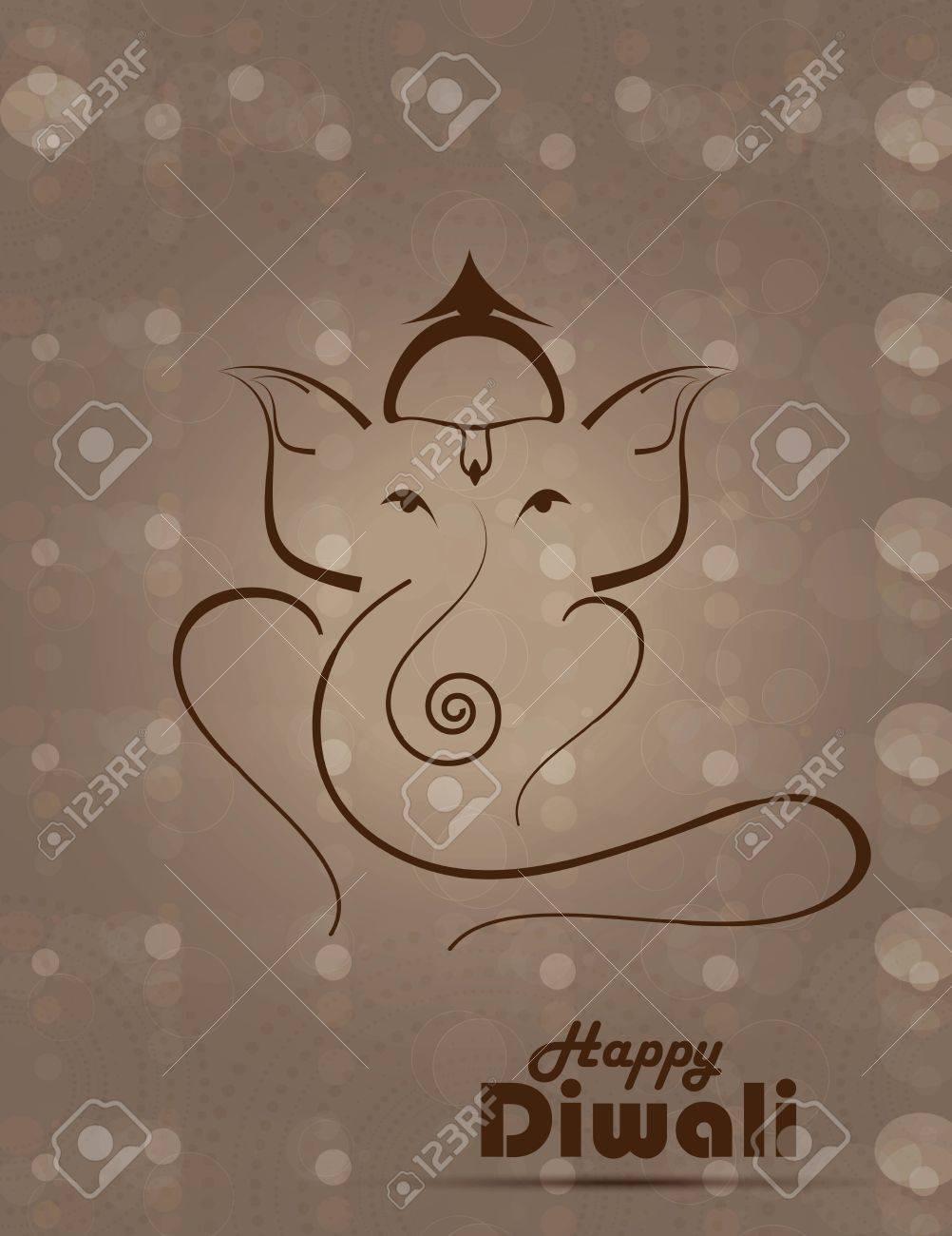 Artistic colorful  illustration of Hindu Lord Ganesha vector design Stock Vector - 18352596
