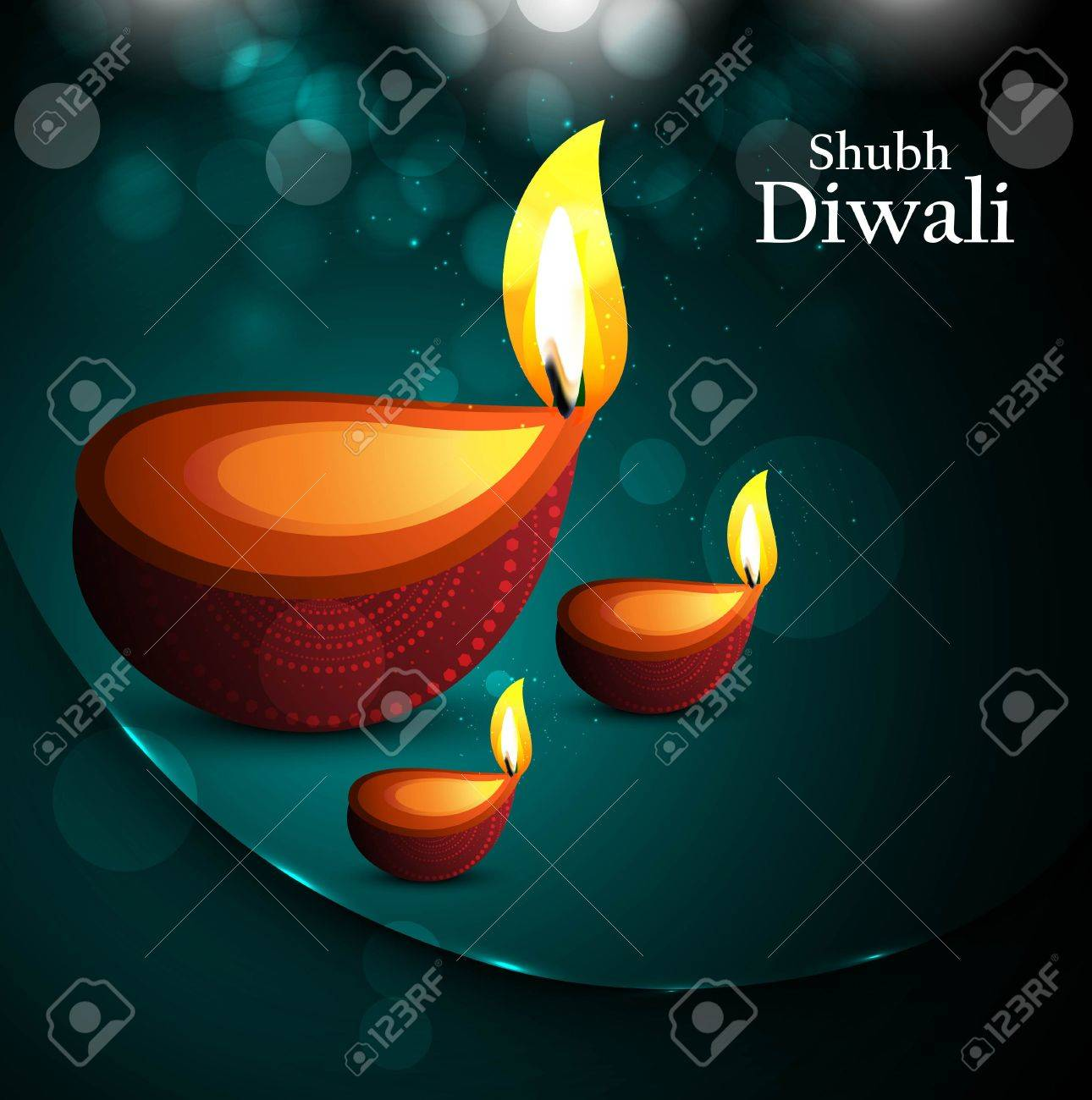 Happy diwali beautiful card diya vector design Stock Vector - 18435899