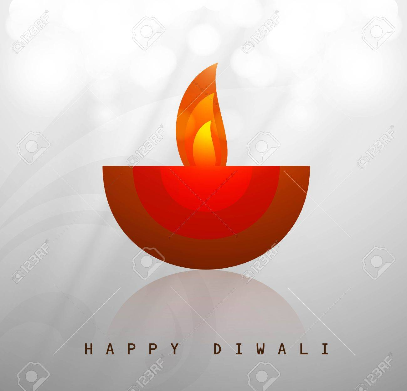 Beautiful happy diwali diya artwork vector Stock Vector - 18436051