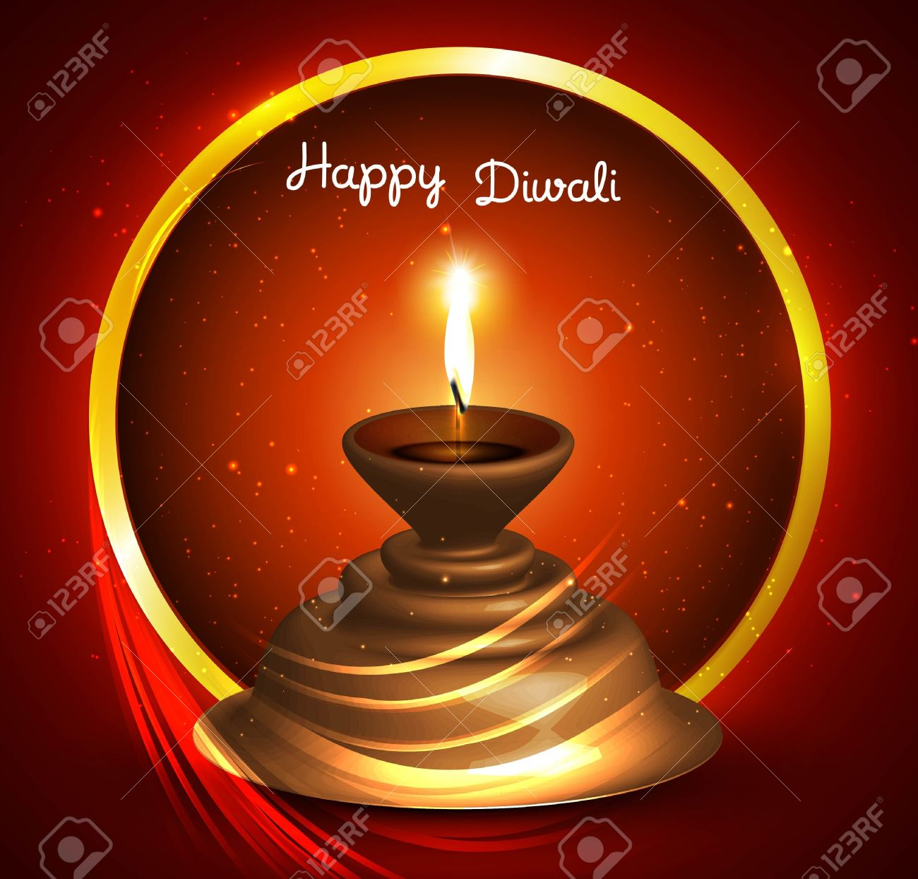 Beautiful happy diwali Greeting card vector design Stock Vector - 18805256
