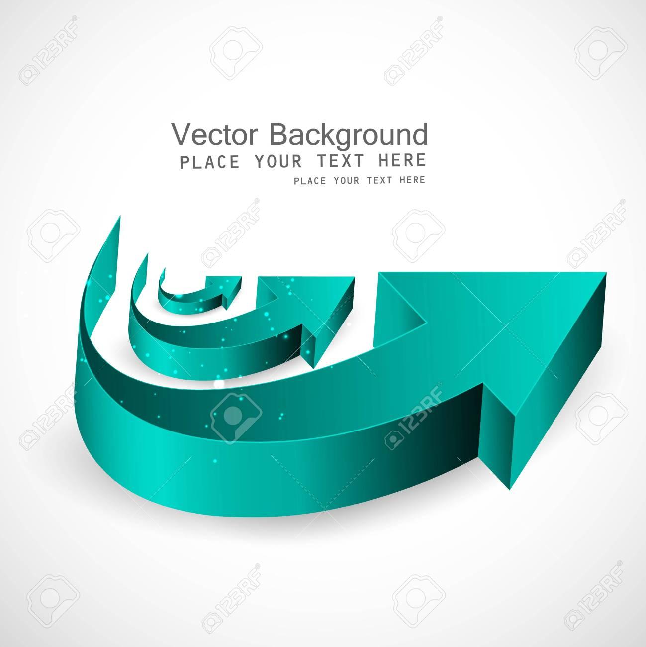 abstract shiny 3d arrows business vector Stock Vector - 18870596