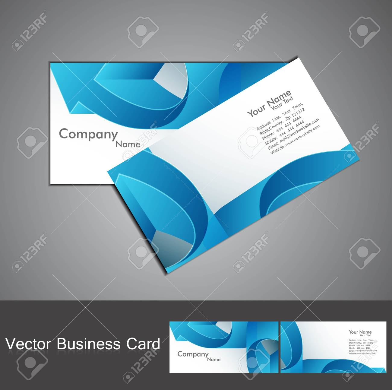 abstract blue colorful stylish arrow business card set design Stock Vector - 18905752