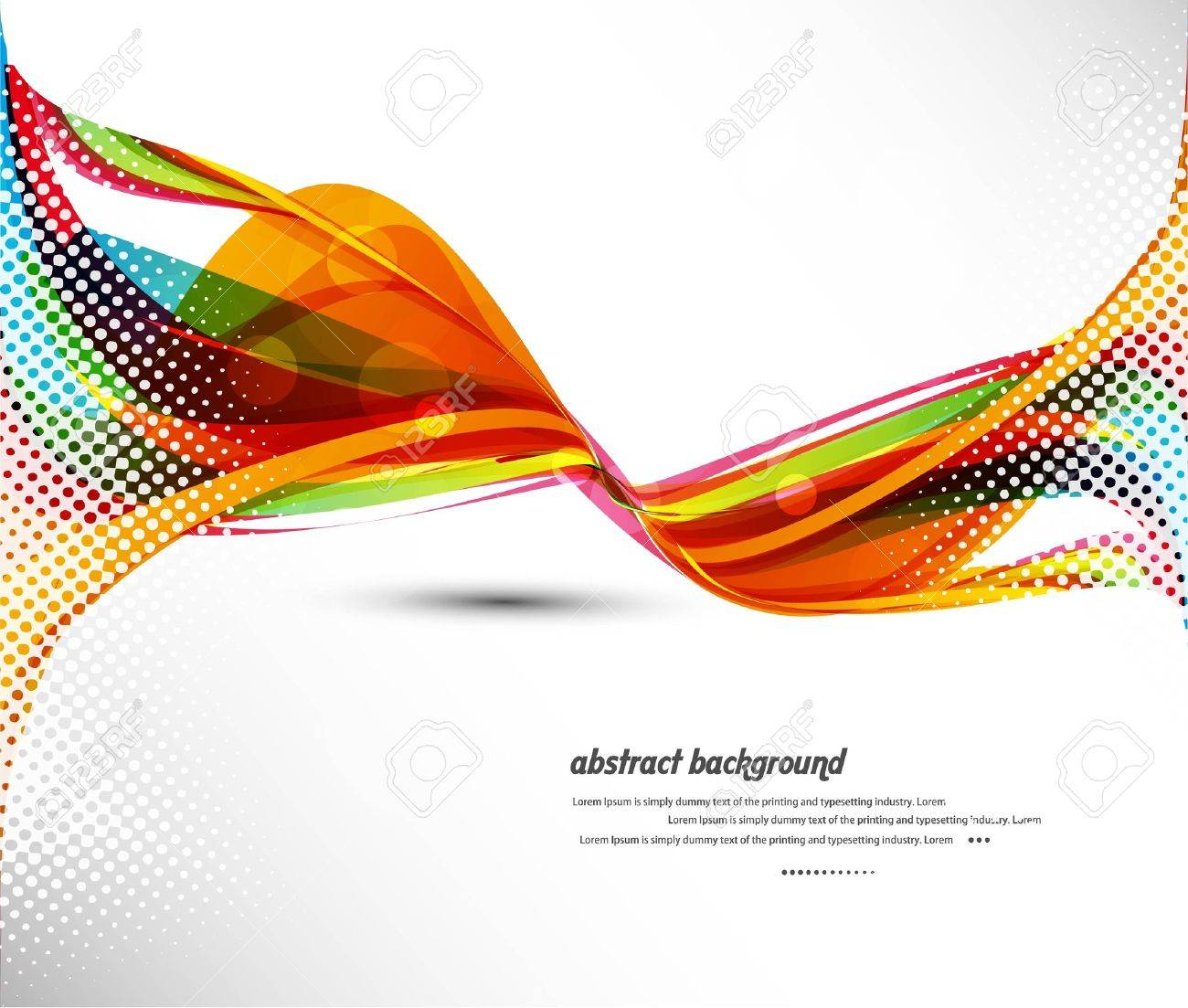 abstract design colorful new rainbow wave vector image illustration Stock Vector - 19260056