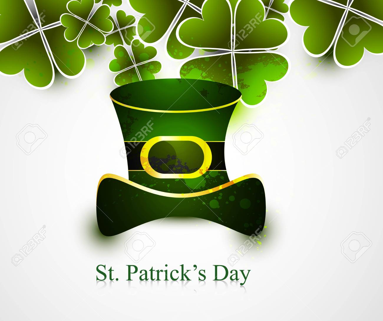 st patrick's day illustration with hat vector Stock Vector - 19260212