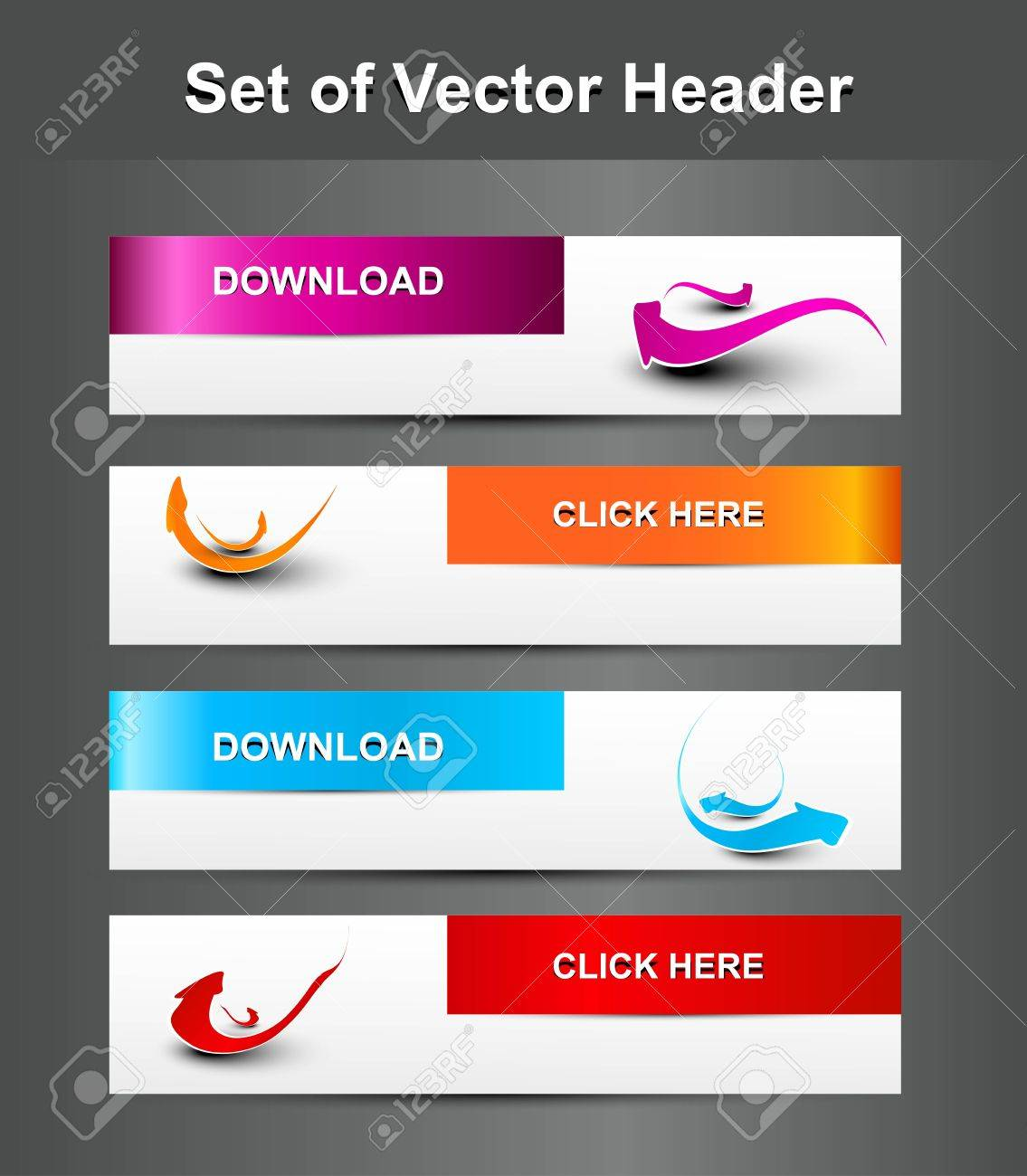 New fantastic  set of vector Header background Stock Vector - 19494451