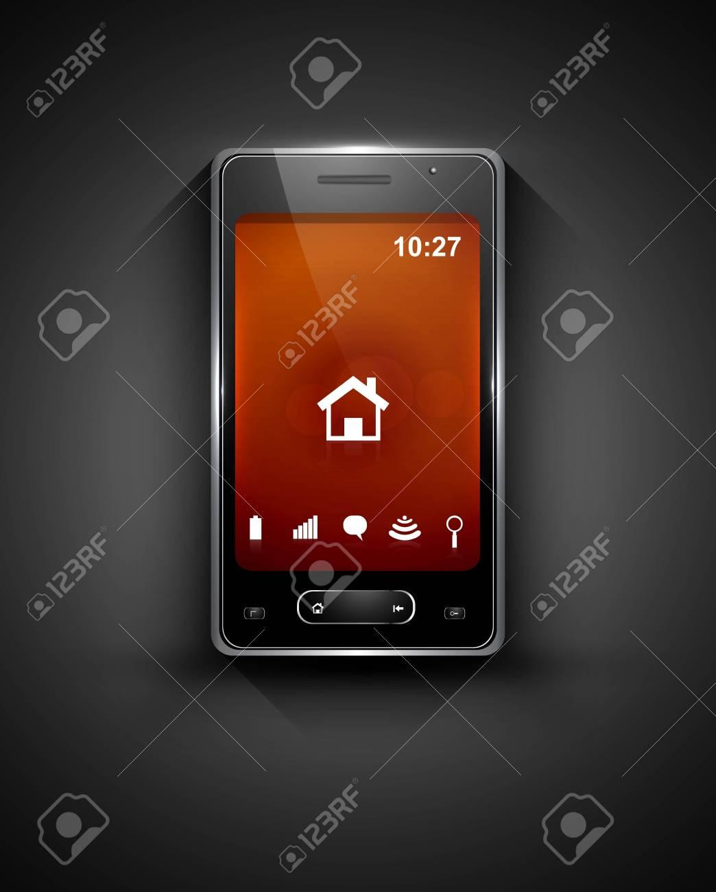 Mobile smartphone original  colorful reflection design vector Stock Vector - 20615091