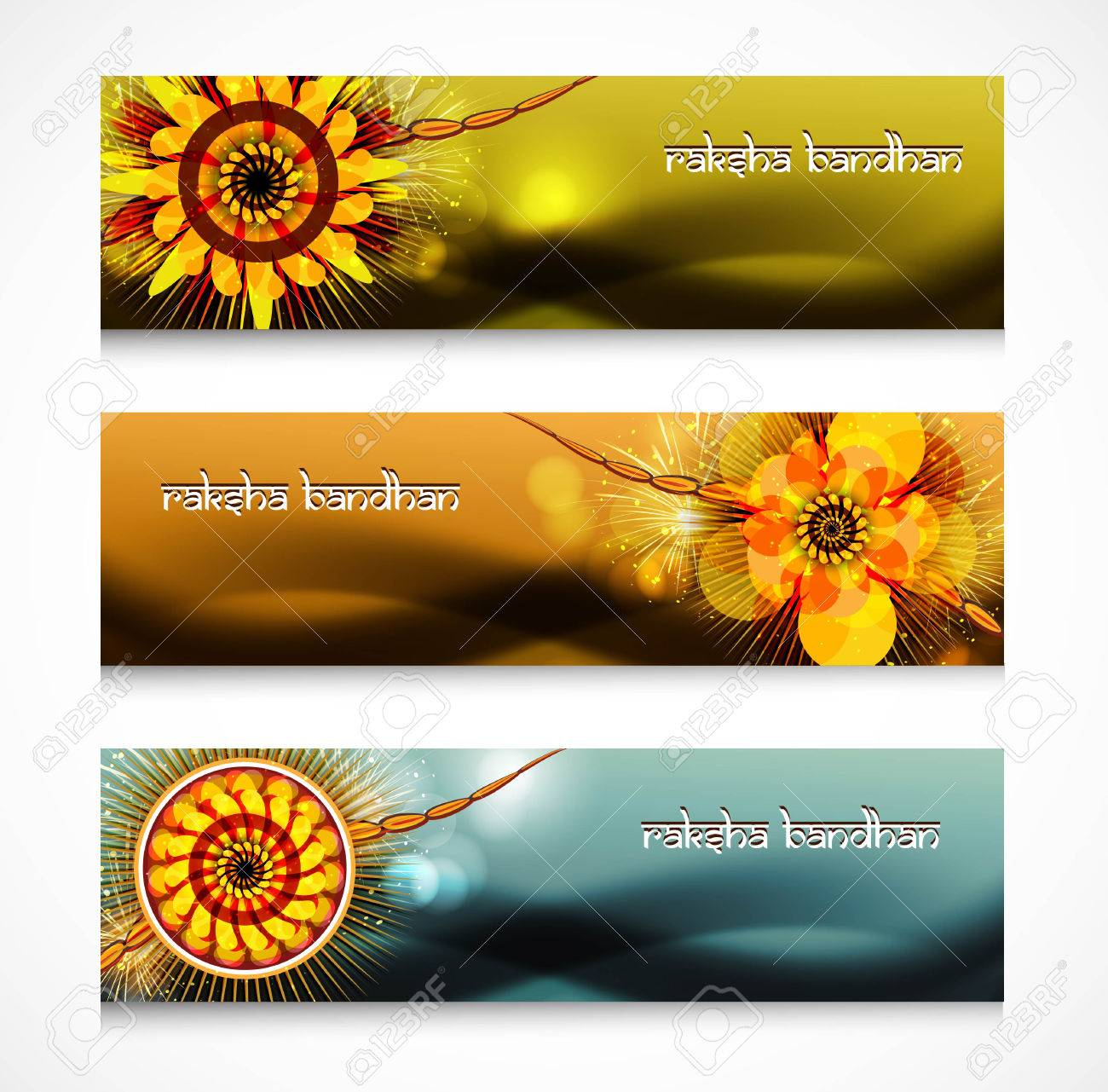 Shiny headers or banners Raksha Bandhan celebration colorful design Stock Vector - 23519819
