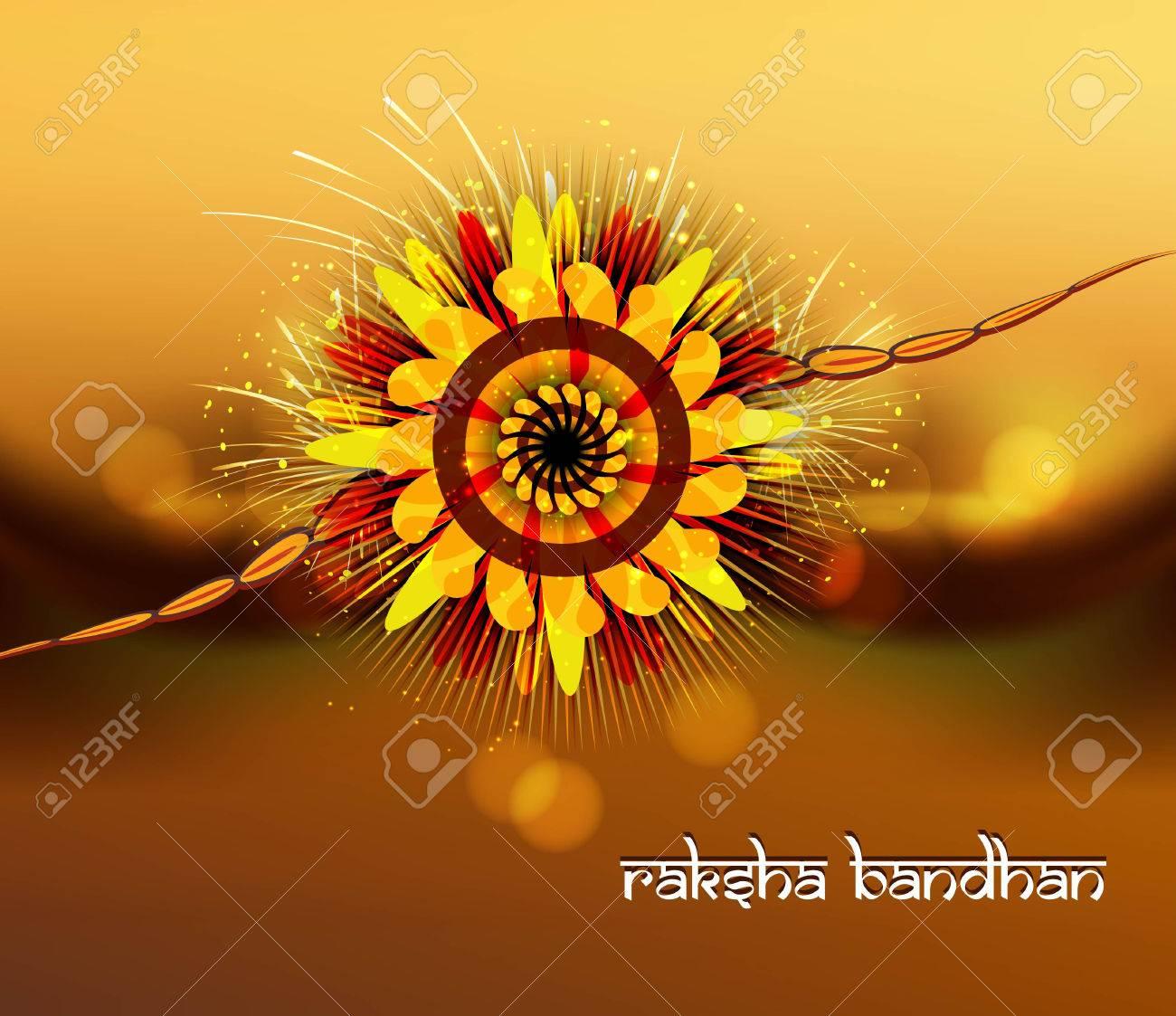 Beautiful rakhi for raksha bandhan bright colorful celebration Stock Vector - 23519830