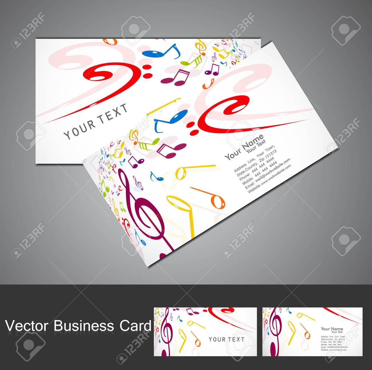 Les Notes De Musique Carte Visite Lgant Dfinir Illustration