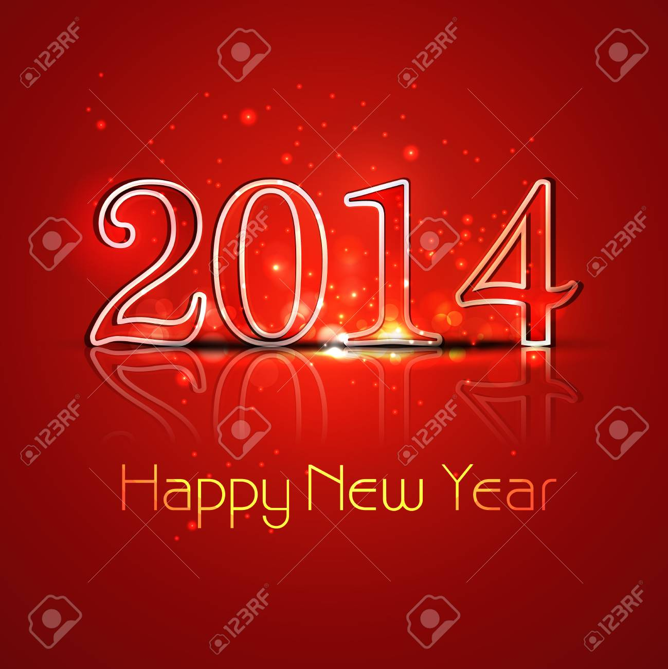 New year 2014 reflection colorful stylish holiday greeting card new year 2014 reflection colorful stylish holiday greeting card design stock vector 24640003 m4hsunfo