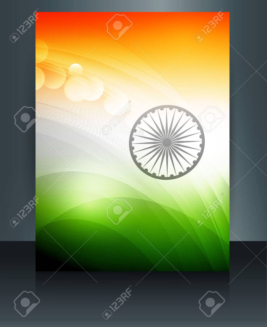 Indian Flag Presentation Template Republic Day Beautiful Brochure ...