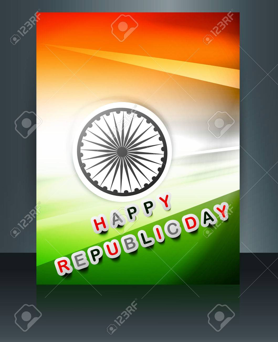 Republic Day Brochure Indian Flag Template Vector Design Royalty ...