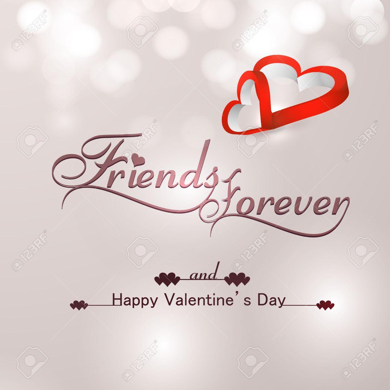 Schone Freunde Fur Immer Fur Die Happy Valentinstag Herzen Stylish