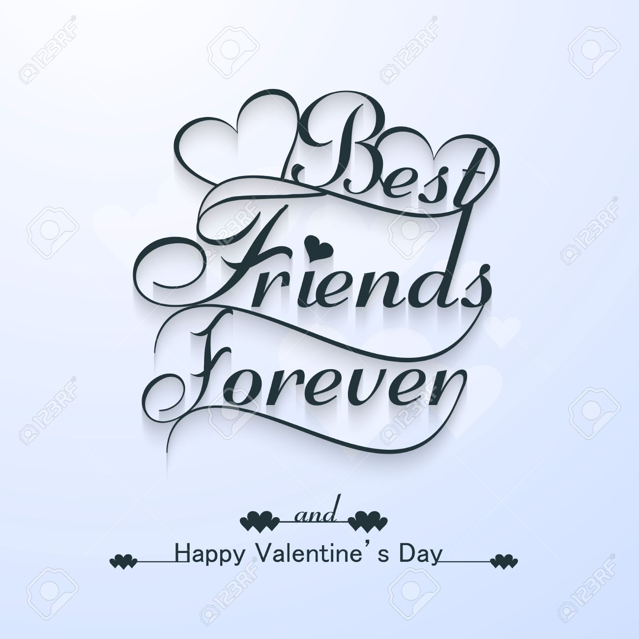 Beautiful Best Friends Forever For Happy Valentineu0027s Day Stylish Text  Design Vector Stock Vector   25402381