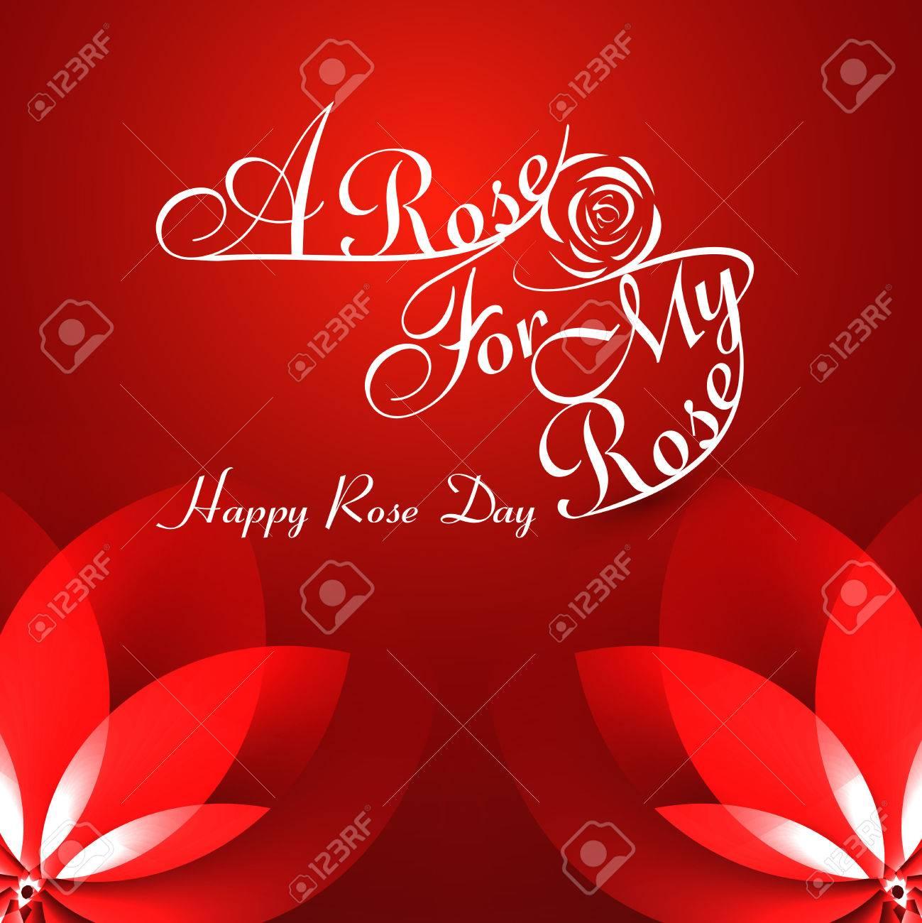 Schöne Eine Rose Für Meine Rose Glücklich Stieg Tag Typografie Text ...
