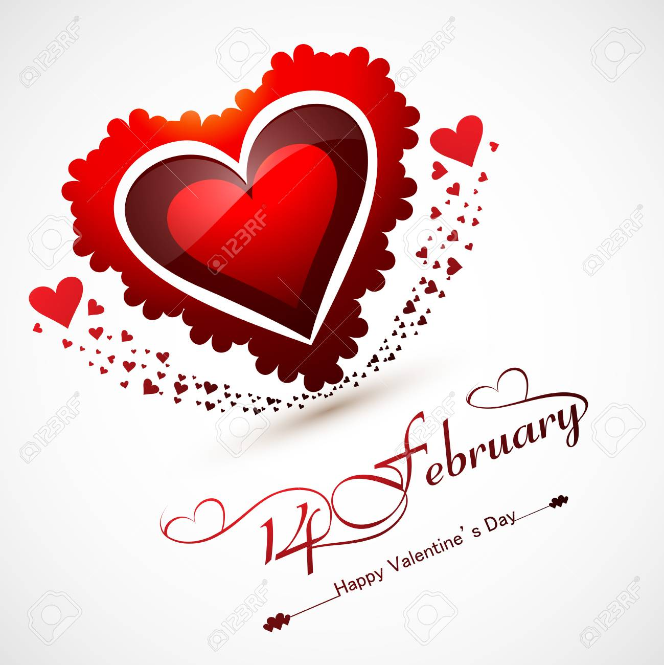 Valentines Day For Greeting Card Or Wedding Invitation Card ...