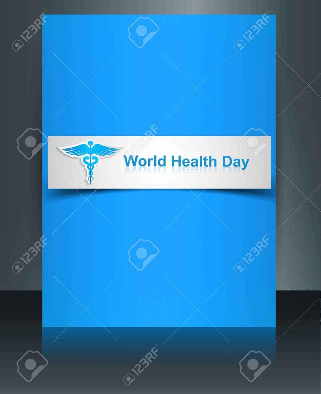 Caduceus medical symbol brochure beautiful World health day template colorful presentation background Stock Vector - 27157223