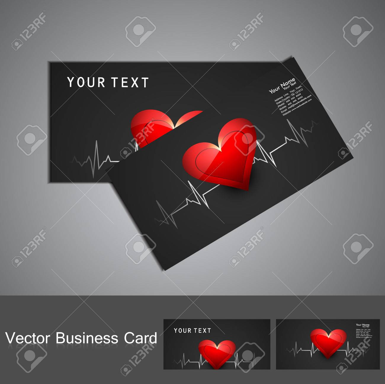 Beautiful Medical Business Card Or Visiting Card Colorful Vector ...
