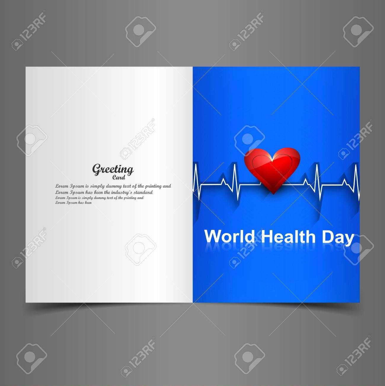 Beautiful heart beats world health day greeting card colorful beautiful heart beats world health day greeting card colorful vector background stock vector 27154740 kristyandbryce Images