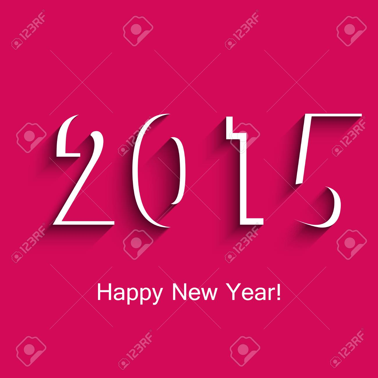 Happy New Year Greeting Card For 2015 Creative Vector Illustration