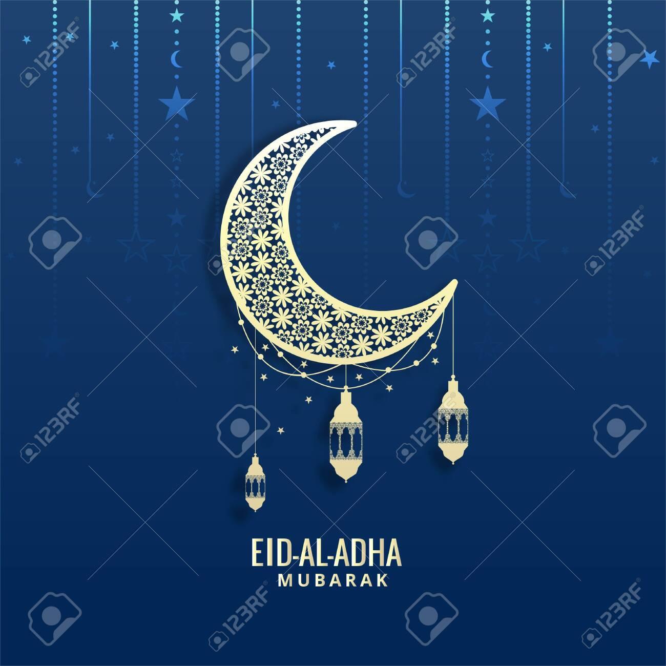 Eid-Al-Adha Mubarak Vector greeting card Background