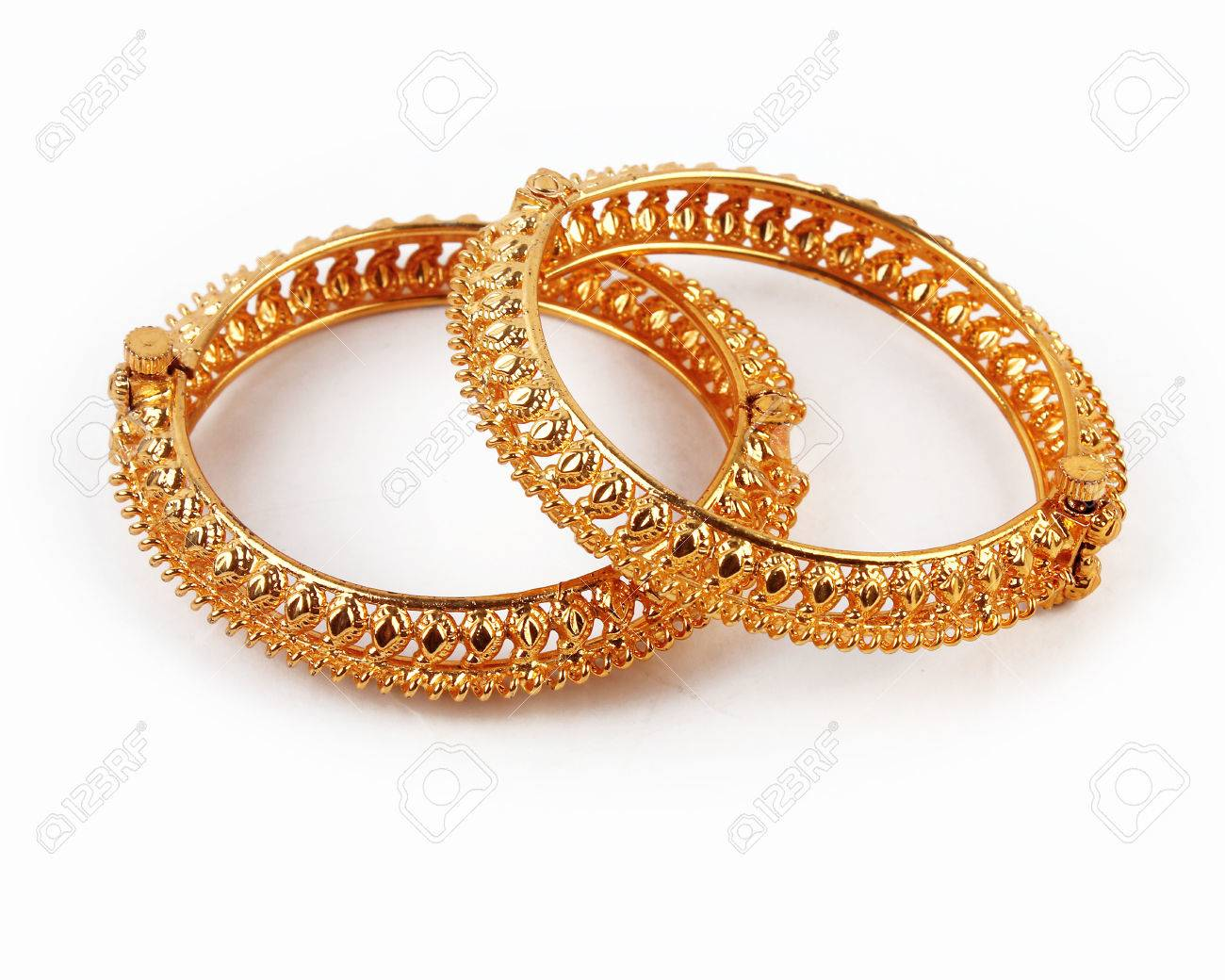 Traditional Indian Gold Bangles Stock Photo, Picture And Royalty ...